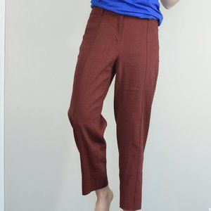 MM Lafleur The Chester Stretch Linen Trousers Sz 4